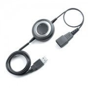 Jabra Link 280, USB-amplifier QD to USB, Plug & Play connection for corded Headsets with PC-based Audio- and voice applications, Call Control button, integrated Bluetooth connection