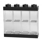Lego RCL MDC8 BK Minifigure Display Case 8, Plastica, Nero