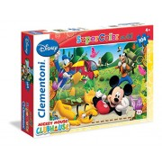 Clementoni 23974 - Puzzle Mickey Mouse Club House, 104 Maxi Pezzi, Multicolore