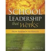 School Leadership That Works by Dr Robert J Marzano