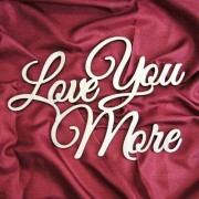 aMonogramArtUnlimited Love You More Painted Wooden Monogram 91112P-12 Color: Silver Glitter