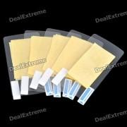 Protections d'écran de protection w / chiffon de nettoyage pour HTC Sensation 4G (5-pièces Pack)