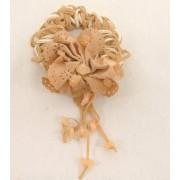 Haarelastiek creme gevlochten met bloem