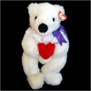 Ty Classic - Romeo White Mothers Day Bear with Red Heart