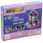 MagWorld Toys Pastel Magnetic Construction Set 20 Piece