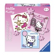 Hello Kitty puzzels 3 in 1
