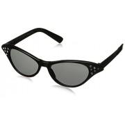 Fabulous '50s Costume Party Cat Eyes Glasses, Black, Plastic, 1-Piece