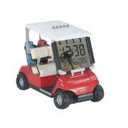Reloj despertador con forma de carrito de golf rojo