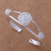 Bratara eleganta placata argint sferica cu trandafiri
