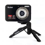 Rollei Digitalkamera Compactline 52 mit 5MP, 8-facher Zoom in schwarz inkl. Stativ TPP-01