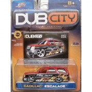 Jada Dub City Red & Black Fire Dept. Cadillac Escalade with Flames 1:64 Scale Die Cast Car
