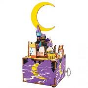 """robotime am306 """"DIY Woodcraft Midsummer Night's Dream sterxy Puzzle 3D en bois - Boîte à musique"""