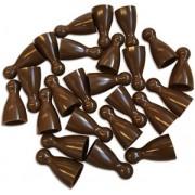 Plastic Spel Pionnen 12x24mm Bruin (25 stuks)