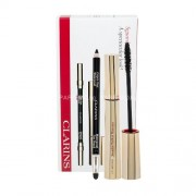 Clarins Mascara Wonder Perfect Duo Kit 7ml за Жени - спирала 7 ml + молив за очи- водоустойчив Eye Pencil Waterproof 1,2 g 01 Black Нюанс - Black