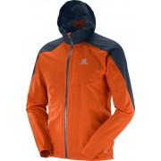 Salomon Bonatti WP Jacket Men vivid orange/big blue-x Laufjacken