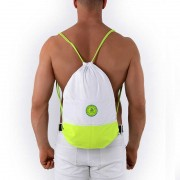 Roberto Lucca Beach BackPack Bag White/Neon 70691