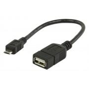 USB 2.0 A – mikro B OTG adat kábel 0.20 m