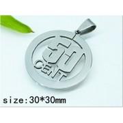 Медальон 50 cent изработен от медицинска стомана (DXP22784)