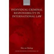 Individual Criminal Responsibility in International Law by Elies Van Sliedregt