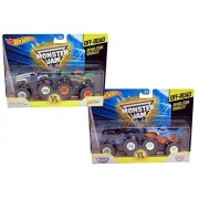 Hot Wheels Monster Jam Off-Road Demolition Doubles Gift Set: Son-Uva Digger Vs. Shark Wreak & Grave Digger the Legend Vs. Dragon by Mattel