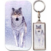 3-D Protective Case For Iphone 4 (Wolf) Artgame 3-D Key Ring (Snow Wolf) .