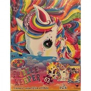 Lisa Frank Puzzle Keeper 3 Pack Set Includes 3 Puzzles 3 Protector Sheets 16 Stickers