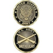United States Military US Armed Forces Army Artillery Unit- Good Luck Double Sided Collectible Challenge Pewter Coin by Eagle Crest