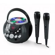 auna SingSing Portable Karaoke System LED Battery Operation 2 x Microphone