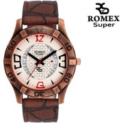 Romex Super Day N Date Analog Dial Mens Watch- Dd-66Brn