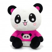 Cute Happy Panda wearing beautiful Dark Pink Baby Panda T-shirt