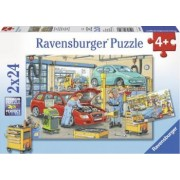 PUZZLE VULCANIZARE SI BENZINARIE 2x24 PIESE Ravensburger
