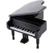 Magideal Black Wood Clockwork Piano Music Box Melody Box Kids Christmas Gift Memory