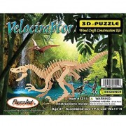 Puzzled Velociraptor Wooden 3D Puzzle Construction Kit
