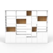 Bibliotheksregal Weiß, MDF, 303 x 233 x 35