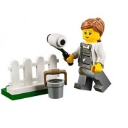 LEGO City MiniFigure: Fence Painter (w/ Overalls w/ Paint Splatters) 60134