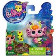 Littlest Pet Shop Fairies Glistening Garden Enchanted Figure Pansy Fairy with Grasshopper