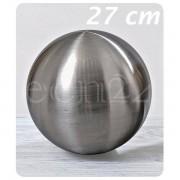 Boltze Edelstahlkugel gebürstet als Garten-Dekokugel 27 cm