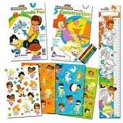 Little People Coloring and Activity Super Set -- Coloring Book Activity Pad Over 100 Stickers Crayons an