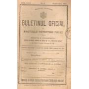 Buletinul Oficial al Ministerului Instrucțiunii Publice, Anul XXVII, nr.2, febr. 1925