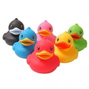 Generic 6pcs Rubber Squeeze Sound Squeaky Ducks Fun Kids Bath Toy Baby Duck