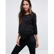New Look Maternity Футболка с рукавами 3/4 для беременных New Look Maternity - Черный
