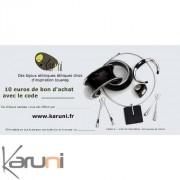 Chèque cadeau Karuni Chèque Cadeau en ligne bijoux décoration boutique Karuni - 10 euros ( Chèque Cadeauéthique 10 euros )