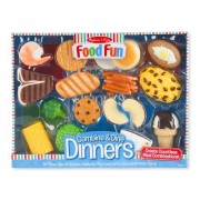 Melissa & Doug 8 Piece Food Fun Combine and Dine Dinners Set 8268