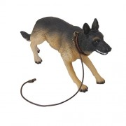 1/6 Wwii German Attack Police Dog Shepherd Action Figure Toy With Rotatable Head