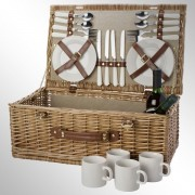 Cos de picnic pentru 4 persoane