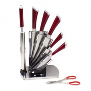 Комплект луксозни кухненски ножове и аксесоари ZEPHYR ZP 1633 P7AS, 8 части, Точило, Ножица