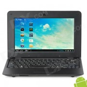 """V712 10"""" Screen Android 4.0 Netbook w/ Wi-Fi / RJ45 / Camera / HDMI / SD Slot - Black"""