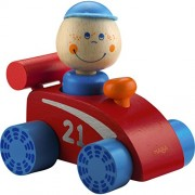 HABAtown Wooden Race Car with Driver for Ages 12 Months and Up