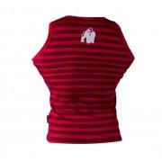 Gorilla Wear Stripe Stretch Tank Top Red - L/XL