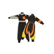 Jamara 404711 - Tuta da corsa automobilistica Rideon, taglia 4/5 anni, colore: Grigio/Arancione